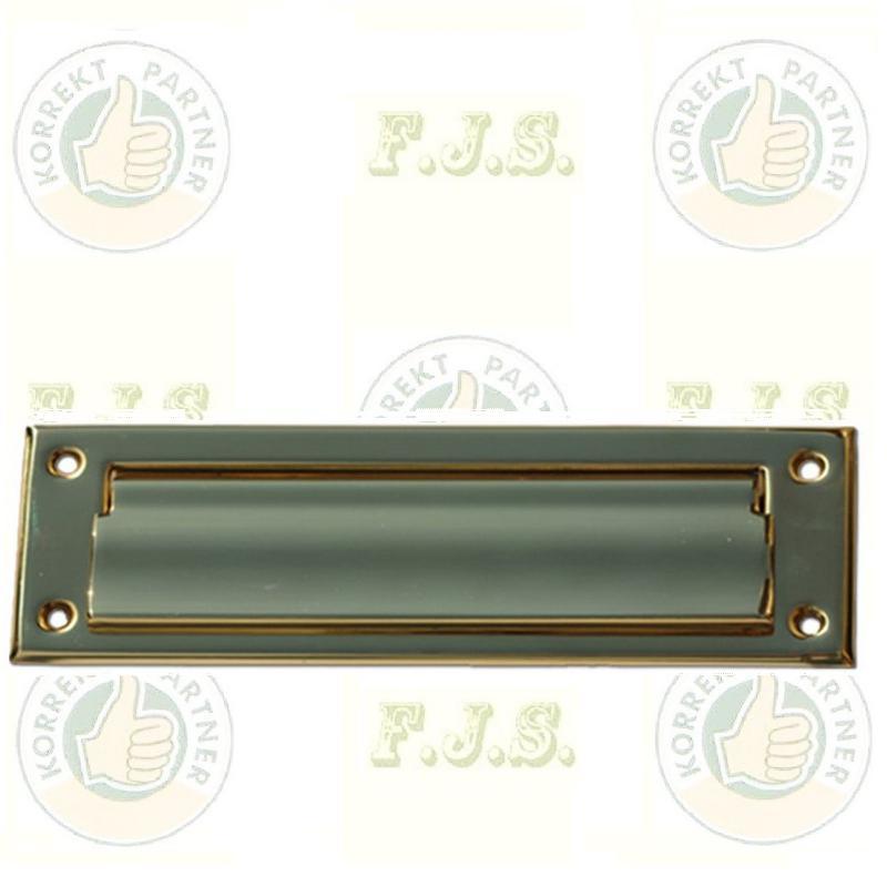 Levélbedobó horganyzott acél barna;  320x120 mm