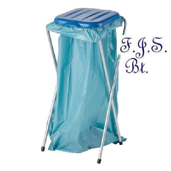 Műanyag fedelű zsákállvány kék fedéllel