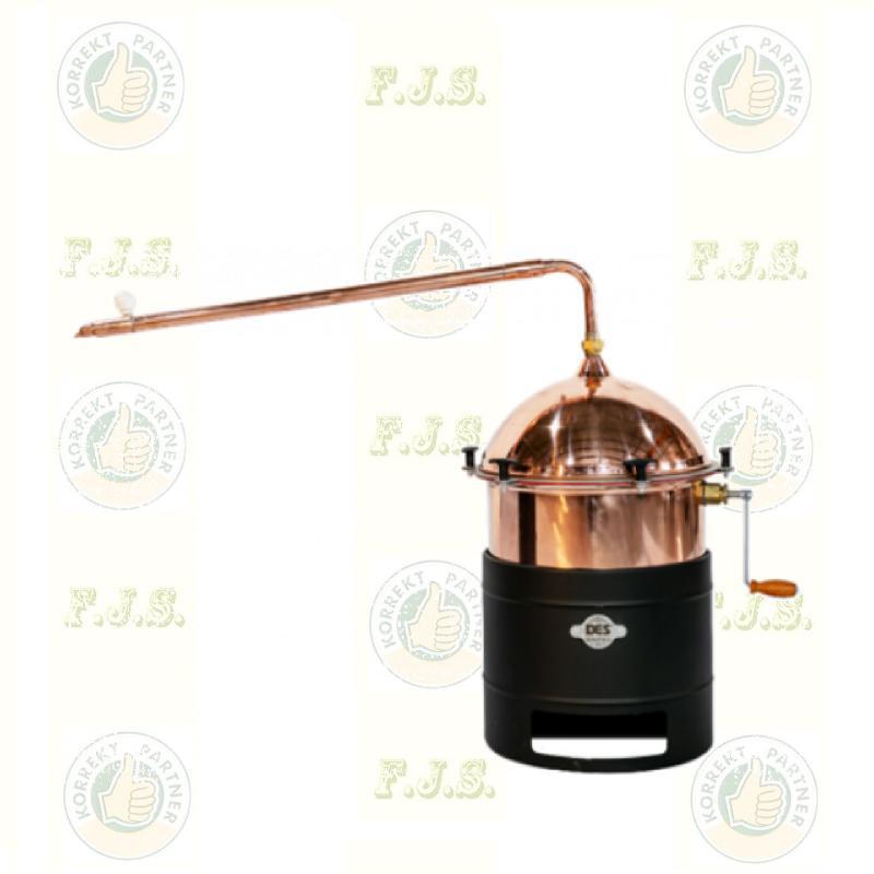 Pálinkafőző Kétlépcsős 35 L keverővel, bilincses zárással, átfolyós hűtővel