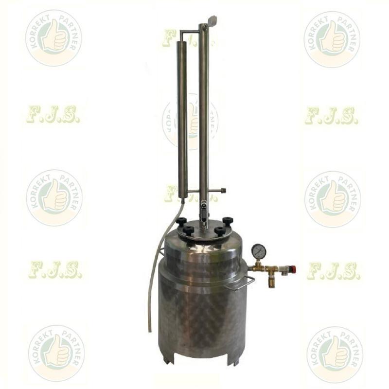 Pálinkafőző LIGHT 35 l. egylépcsős, duplafalú, aromaerősítő torony
