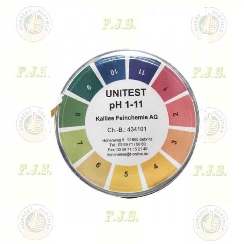 PH mérő Indikátor papír pH1-11 5m/tekercs, Unitest