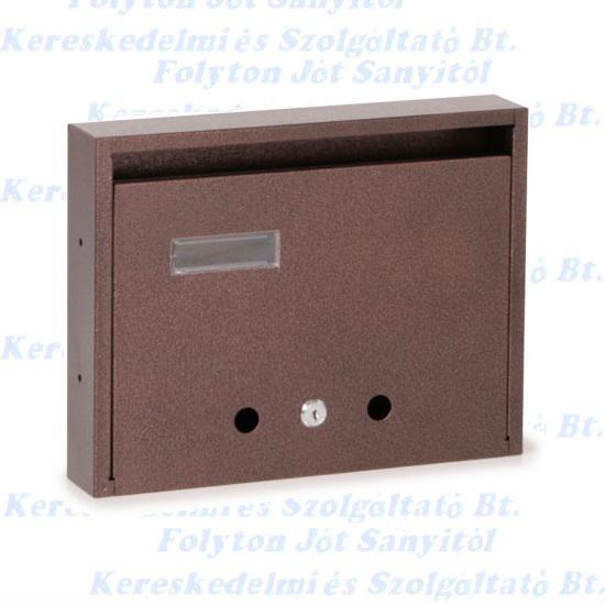 Postaláda lakótelepi bronz fekvő felfelé nyíló  350 x 270 x 60 mm.