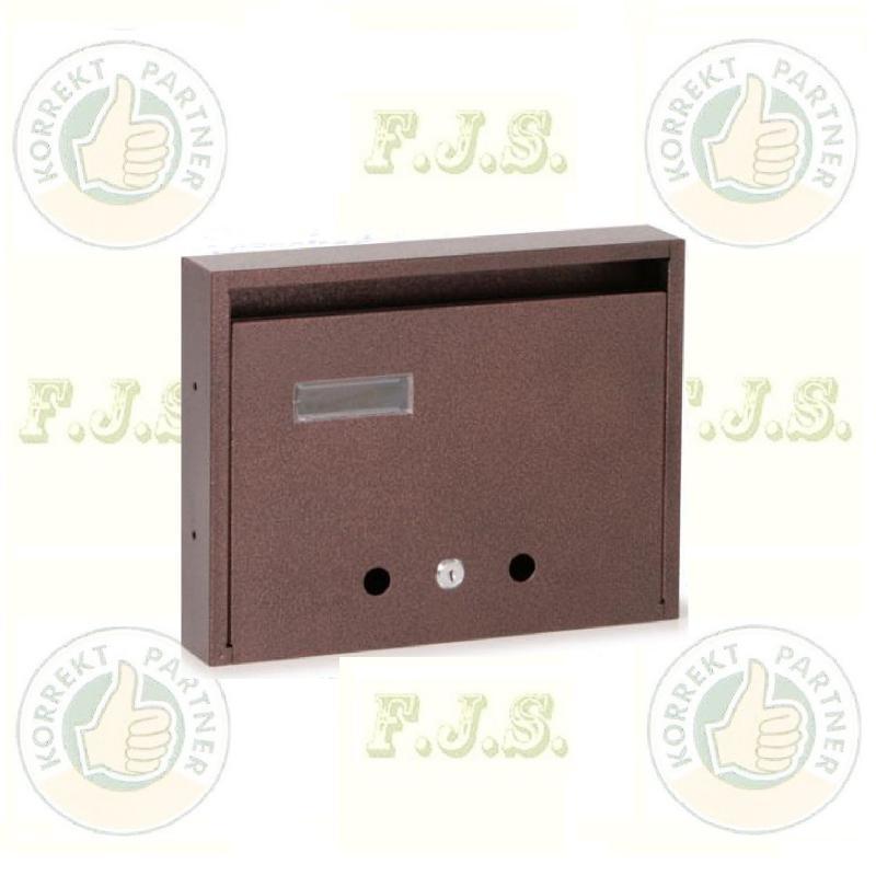 Postaláda lakótelepi bronz fekvő lefelé nyíló  350 x 270 x 60 mm.