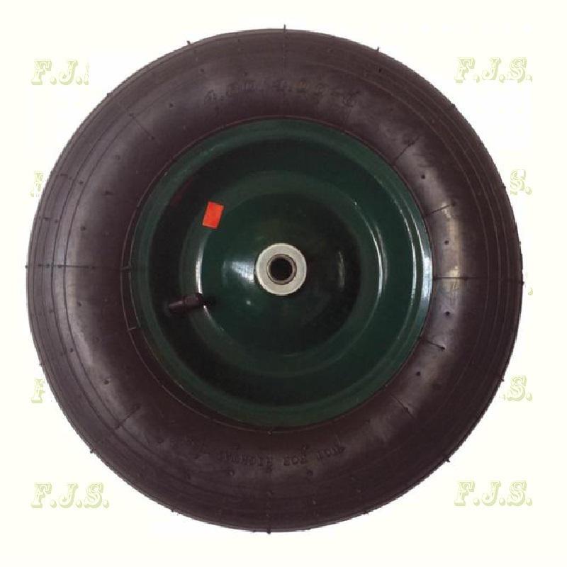 Talicska kerék fém felnis pumpálható 4.00-8 egybevázas talicskához