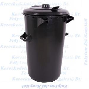 110 l. kuka fekete huladéktároló műanyag ECO