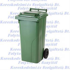120 l.KUKA zöld hulladéktároló műanyag 120l. kültéri