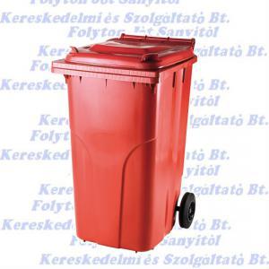240 l.KUKA piros hulladéktároló műanyag 240l. kültéri