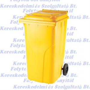 240 l.KUKA sárga hulladéktároló műanyag