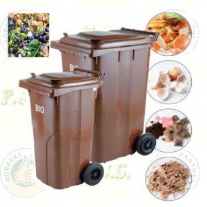 BIO 240 l. barna Kuka komposzt hulladéktároló rostéllyal