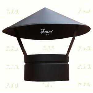 Füstcső esővédő sapka Ø150 fekete