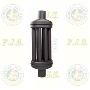 Füstcső hődob Ø118/1000mm 6 csöves fekete hőfokozó (Ø120)
