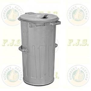 Kuka 110 l horganyzott fém hulladéktároló 110l. kültéri CE