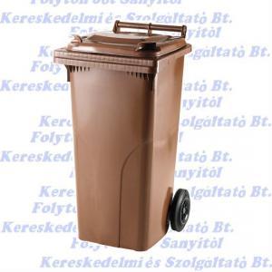 Kuka 120 l. barna hulladéktároló műanyag 120l. kültéri