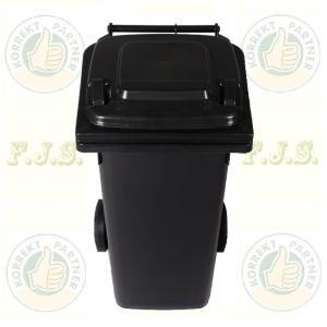 Kuka 120 l. fekete (antracit) hulladéktároló 120l. CE kültéri szemetes
