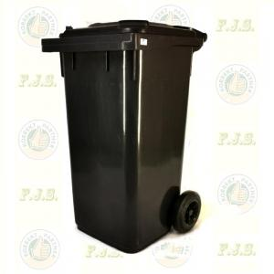 Kuka 120 l. fekete (antracit) hulladéktároló 120l. CE kültéri szemetes (MUTA)