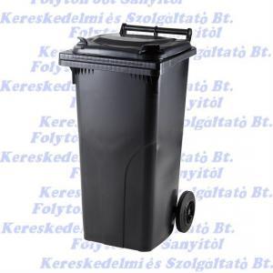 Kuka 120 l. fekete hulladéktároló műanyag 120l. kültéri szemetes