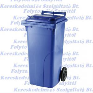 Kuka 120 l. kék hulladéktároló műanyag 120l. kültéri szemetes