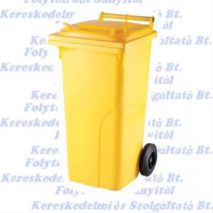 Kuka 120 l. sárga kültéri szemetes CE