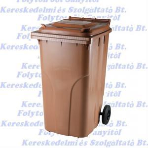 Kuka 240 l. barna hulladéktároló műanyag 240l. kültéri