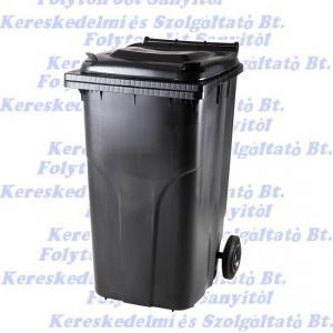 Kuka 240 l. fekete hulladéktároló műanyag 240l. kültéri szemetes