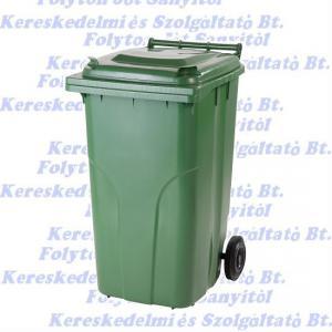 Kuka 240 l. zöld hulladéktároló műanyag 240l. kültéri szemetes