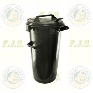 Kuka 50 l. fekete hulladéktároló műanyag ECO 50l kültéri szemetes