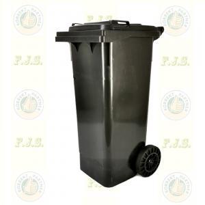 Kuka 80 l. fekete hulladéktároló műanyag 80l. kültéri szemetes