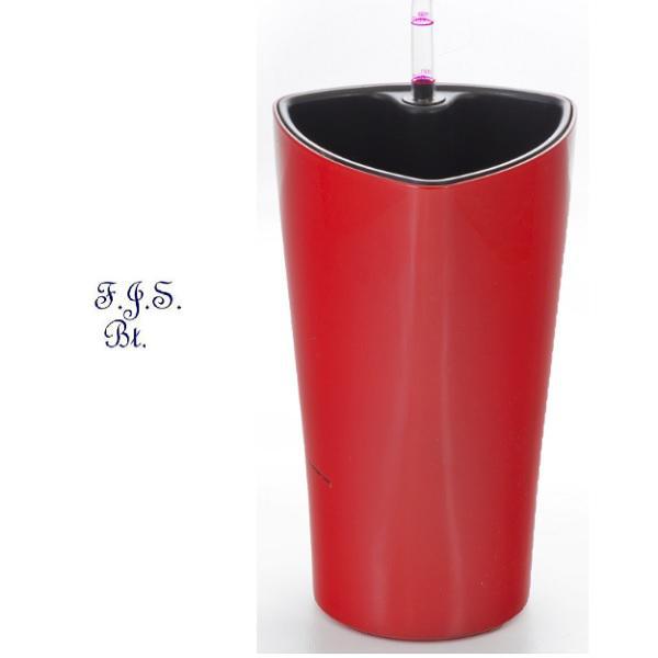 Trio önöntöző kaspó 26 cm, piros