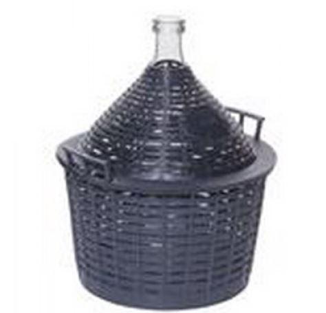 üvegballon  15l. demizson műanyag borítású (boros és pálinkás)
