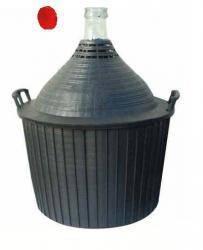 üvegballon  34l. demizson műanyag borítású (boros és pálinkás)