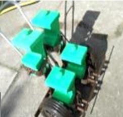 Vetőgép - kétsoros kézi szemenkénti normál ( KG-1.2 ) granulátum adagolóval