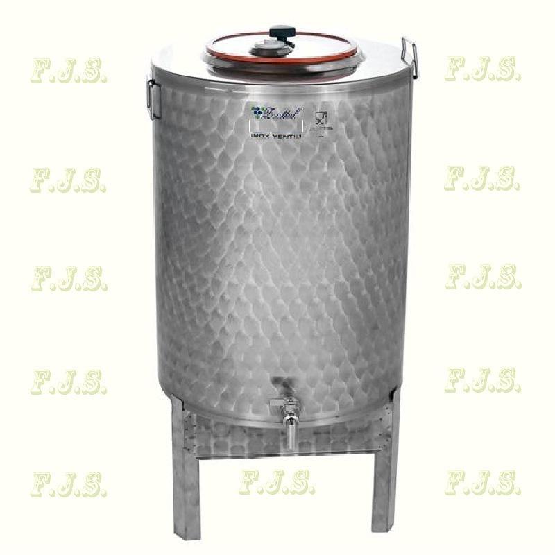 Zottel Inox Élelmiszer olaj és pálinkatartály  50L állvánnyal