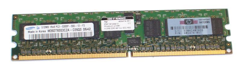 HP 512MB, 667MHz, PC2-5300, registered DDR2 Fully Buffered DIMMs (FBD) memory module (felújított)
