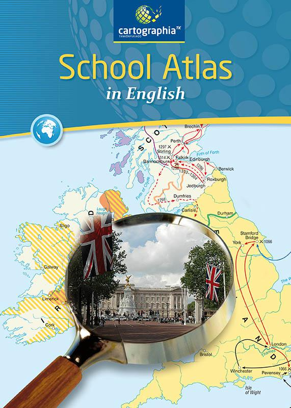CR-0092 School Atlas in English - Atlasz az angol kéttannyelvű iskolák számára