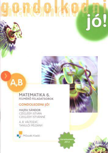 MK-4202-X/UJ-K Gondolkodni jó! Felmérő feladatsorok, Matematika 6. osztály, A,B változat