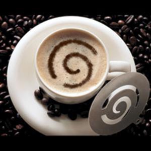 Cappuccino díszítő sablon 3 db