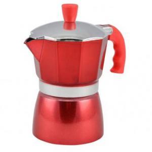 Piros kotyogó kávéfőző 3 személyes