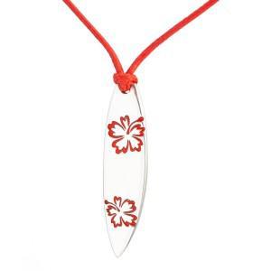 Medál (Hawaii surf L, ezüst-red)