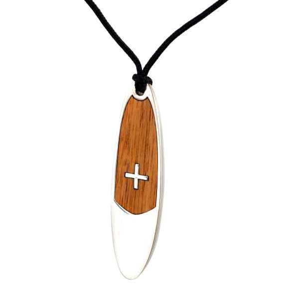 Medál (SUP XL, ezüst-wood)
