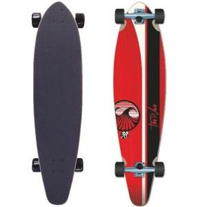 The Wave 38 Red longboard