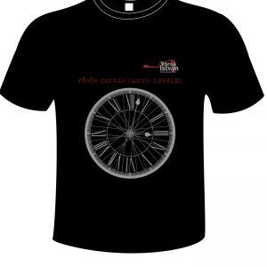 Fekete kereknyakú póló