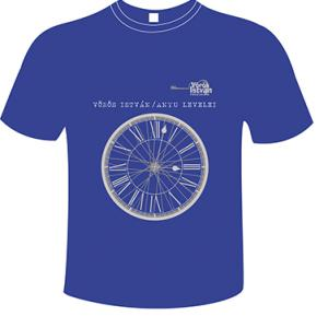 Kék kereknyakú póló