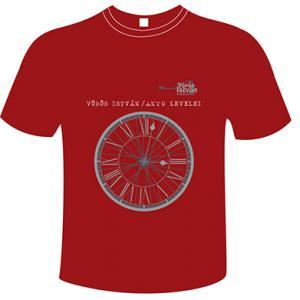 Piros kereknyakú póló