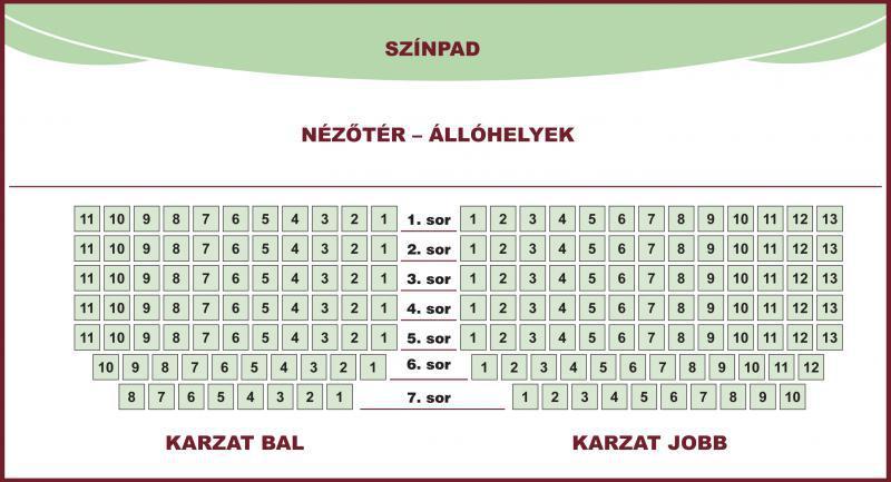 KARZAT BAL OLDAL 4.sor . 4.szék