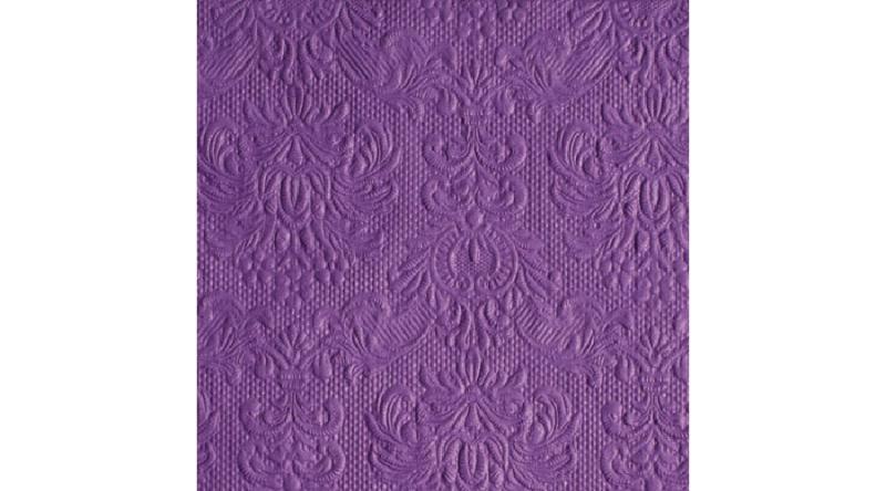 AMB.12505512 Elegance purple dombornyomott papírszalvéta 25x25cm,15db-os