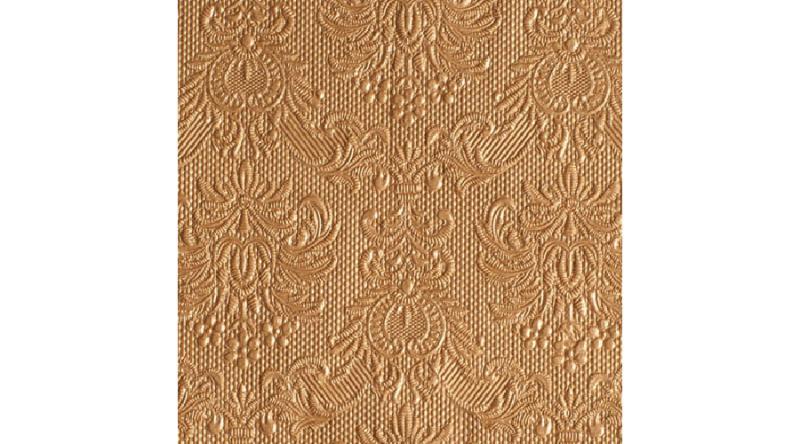 AMB.12505513 Elegance bronz dombornyomott papírszalvéta 25x25cm,15db-os
