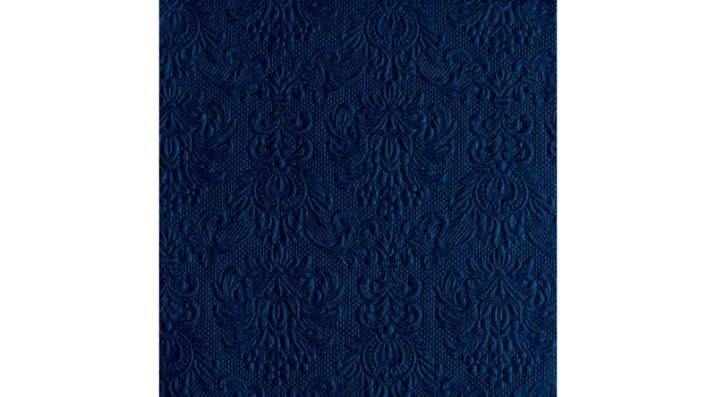AMB.13314257 Elegance royal blue dombornyomott papírszalvéta 33x33cm,15db-os