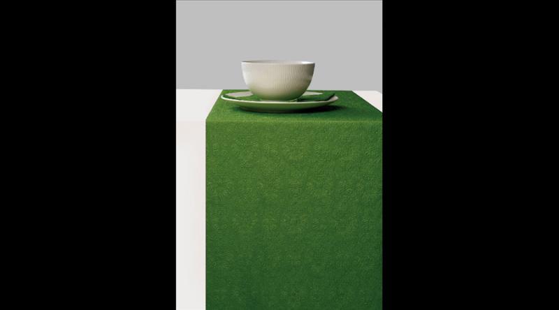 AMB.13604933 Elegance summer green dombornyomott papír asztali futó 33x600cm