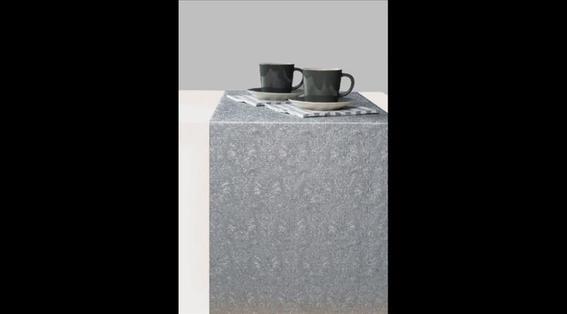 AMB.13604938 Elegance silver dombornyomott papír asztali futó 33x600cm