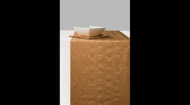 AMB.13605513 Elegance bronz dombornyomott papír asztali futó 33x600cm